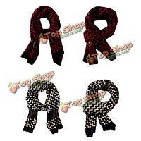 Мужчины мужской шарф вязаный fauex кашемир саржа картины обертка Collor шарфы