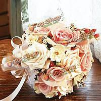 50X пены искусственный цветок свадьба свадебный букет декор поделки