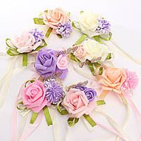 Невест невесты свадебный букет ручной работы ручной цветы запястье корсажи украшения