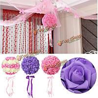 Поделок 50 красочные пены розы искусственный цветок Свадебные украшения невесты букет партии