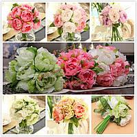 10 голов искусственный шелк цветок пиона Свадебный букет партия украшение дома