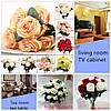 10 голов искусственный шелк цветок розы Свадебный букет партии украшение дома