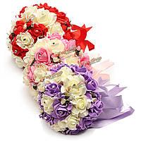 Невеста искусственные пены роз кристалл Илке ленты свадьбы невесты девушки цветка