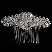 Невеста свадьба искусственный кристалл горный хрусталь зажим для волос расческа шпилька свадебный головной убор
