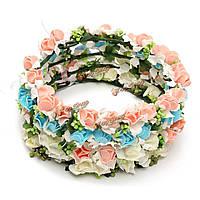 1шт невеста девушка розы корону оголовье выпускного вечера венчания пляж цветочные гирлянды лента для волос