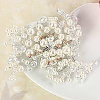 Невеста жемчужина кристалл бусина волосы бомба новобрачных weddig аксессуары для волос головной убор