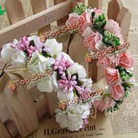 Boho цветочные гирлянды цветка оголовье волосы обручем оголовье свадебный, фото 1