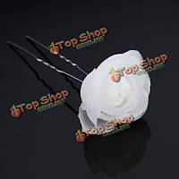 Свадебные аксессуары для волос в U-зажима пряжи цветок шпильки головной убор