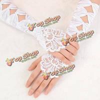 Свадебные белые перчатки