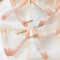 Перчатки свадебные кружевные без пальцев