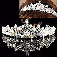 Свадебный цветок горный хрусталь кристалл перлы кроны тиары венчания выпускного вечера театрализованное вуаль головной убор