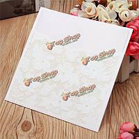 10шт лазерная резка цветок выдолбить шарик свадьба вечерние приглашения карты Конверты печатей