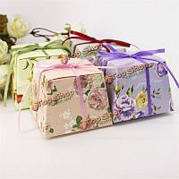 50шт цветок печатные ленты коробки конфеты день рождения подарочные коробки свадебной партии поставок, фото 1