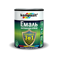 Эмаль антикоррозийная 3в1, зеленый KOMPOZIT, 0,75 кг (4820085742345)