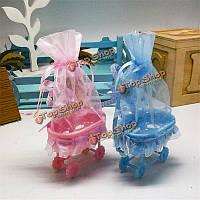 12шт форма детская коляска коробка конфет пакет подарка благосклонности венчания украшение партии