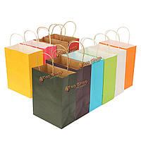 15 * 21 * 8см бумага подарочной упаковки хозяйственная сумка многоцветной питания свадьба, фото 1