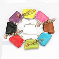 Мини Candy цвет PU кожаный ключевой держатель для макияжа монета мешок небольших бумажник, фото 1