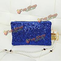 Женские дамы блесток сцепления кошелек вечерняя сумочка участник мешок, фото 1
