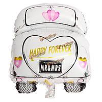 Воздушный шар Белый Автомобиль фольга, фото 1