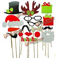 Реквизит новогодней вечеринки декор на палочке для фото