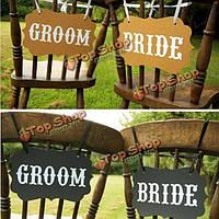 Поделки Жених ленты свадьба стул гирлянда украшения партия фото реквизит аксессуары