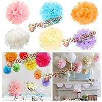 Свадебное оформление помпонами partyfestival папиросной бумаги шарик-цветка