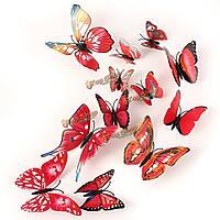 12шт 3-я бабочка красные стенные переводные картинки искусства этикеток домашнее художественное оформление свадебной вечеринки