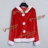Рождественские костюмы Санта-Клауса красное платье наряд одежды