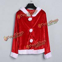 Рождественские костюмы Санта-Клауса красное платье наряд одежды, фото 1
