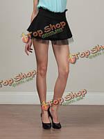 Воланами кружева листьев лотоса юбка-брюки короткая юбка шорты