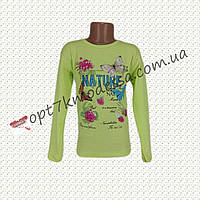 """Водолазка длинный рукав  для девочек подросток """"Природа"""" салатовая 8-14 лет"""