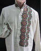 Чоловіча вишита сорочка з оригінальною вишивкою