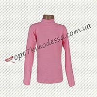 """Гольфик для девочек подростков """"Стразы""""длинный рукав  8-14 лет розовый"""