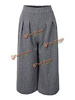 Случайные Мори девушка женщин чистый цвет упругие талии брюки Капри