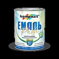 Эмаль акриловая PROFI Коричневая глянцевая KOMPOZIT, 0,8 л (4820085742109)