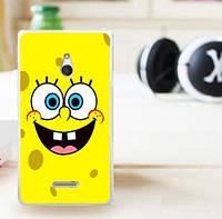 Силиконовый чехол накладка для Nokia XL с картинкой Губка Боб