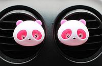 """Автомобильный освежитель воздуха """"Панда"""" Розовый 2шт / компл. Ароматизатор в машину """"Белый Мускус"""""""