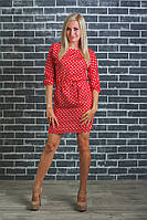 Платье женское летнее красное, фото 1