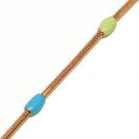 Браслет сразноцветными вставками, цвет - позолота. Длинна 20 см.Ширина 3 мм.