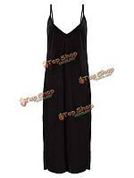 Сексуальное женское ремень твердый платье вечерние коктейльноеные макси сарафан