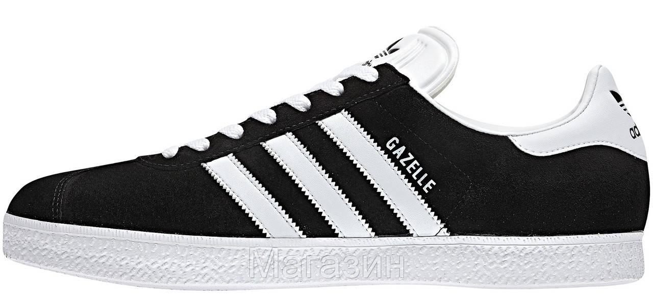 Мужские кроссовки Adidas Originals Gazelle Адидас Газели черные