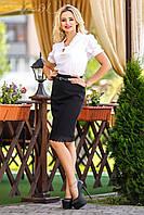 Элегантная блузка классического покроя Севентин 42-48 размеры