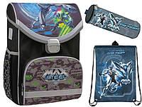 "Комплект. Рюкзак школьный каркасный Max Steel MX15-529S +пенал + сумка, ТМ ""Kite"""