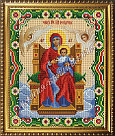 Схема для вышивания бисером Икона Пресвятая Богородица Всецарица