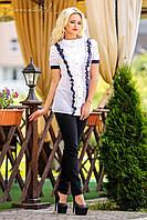 Блузка с элегантной кружевной отделкой   Севентин 42-46 размеры