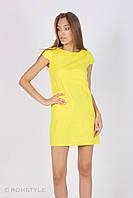 Молодіжна сукня без рукавів (жовта)
