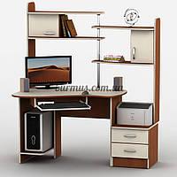 Угловой компьютерный стол с тумбами, Тиса-9, яблоня-локарно + Ваниль