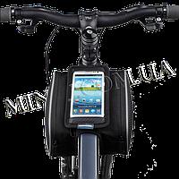 Велосипедная двухсторонняя сумка на раму для смартфона Roswheel M Черная