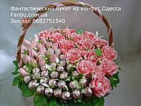 """Шикарный букет из конфет""""Много роз""""№15+20+25"""