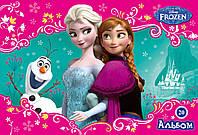 Альбом для рисования на скобе 20 листов Мицар+ Frozen